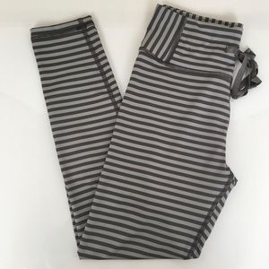 Aerie Gray Striped Cropped Legging Pants